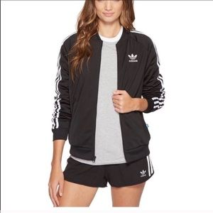 Adidas SuperStar Track Jacket Black and White